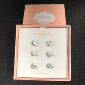 Lola & grace sterling stud earrings
